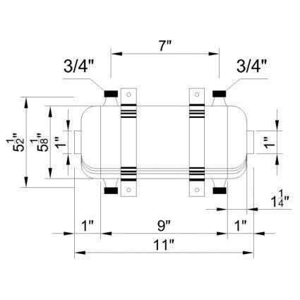 Теплообменник Aquaviva MF-80 28 кВт 304L