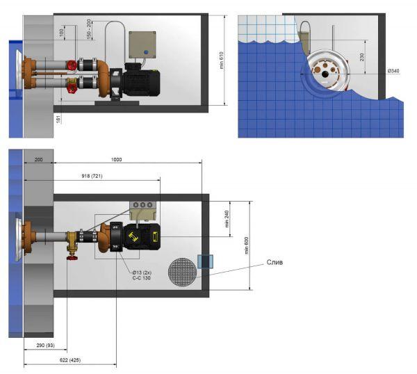 Fitstar Taifun Duo 63 м3/час Устройство встречного течения для бассейна